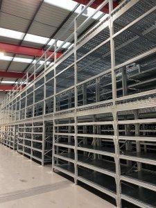 multi tier shelving